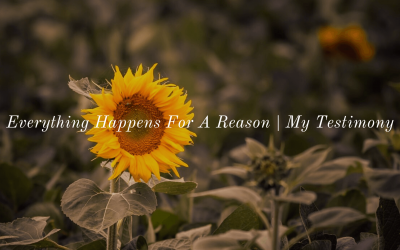 Everything Happens For A Reason | Sis Joyce Sarangapany